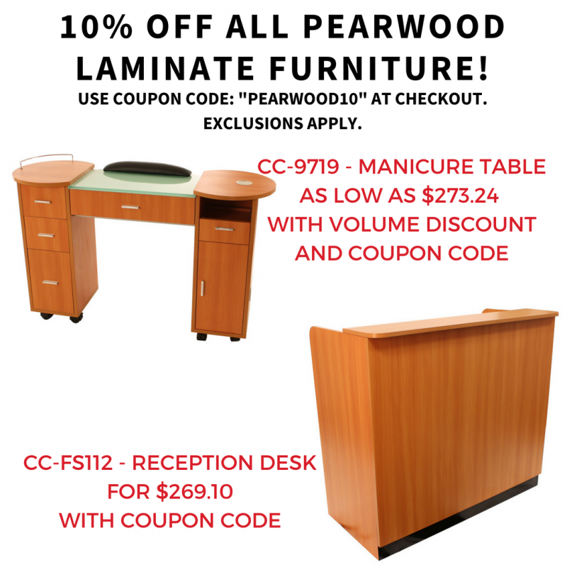 10% off all Pearwood Laminate Furniture!