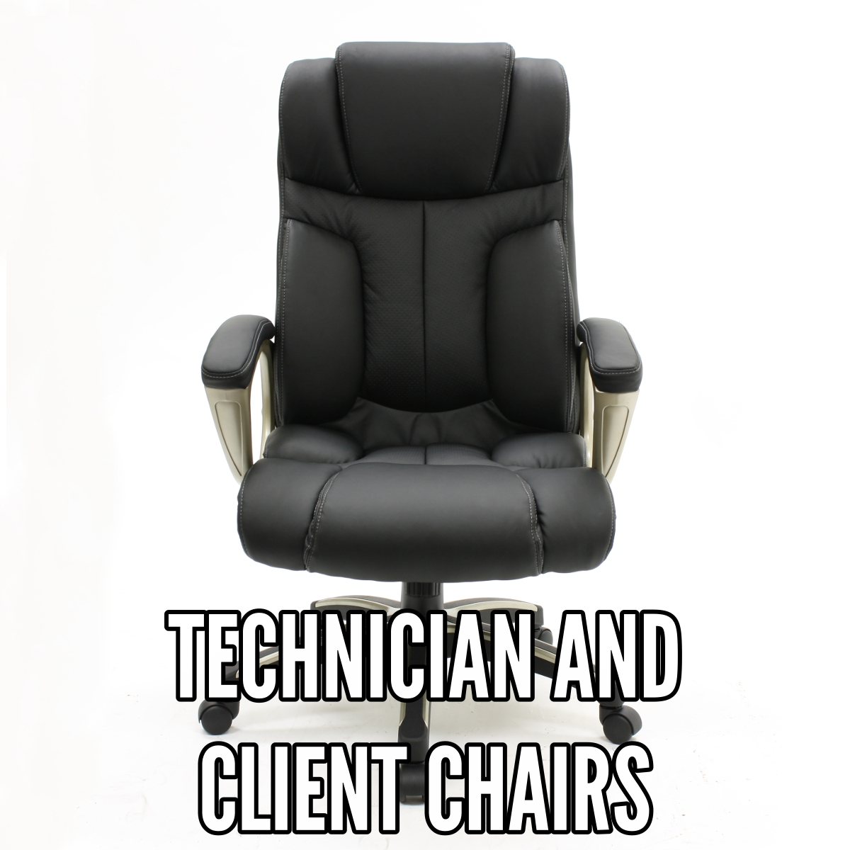 Technician And Client Chairs Professional Nail Salon