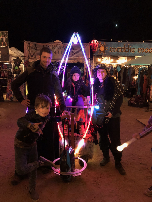 battery-powered solutions for art, armageddon or burning man, whichever comes first