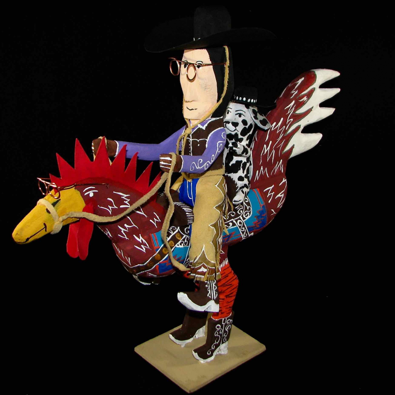 Navajo Folk Artist Delbert Buck--He'll Make You Smile!