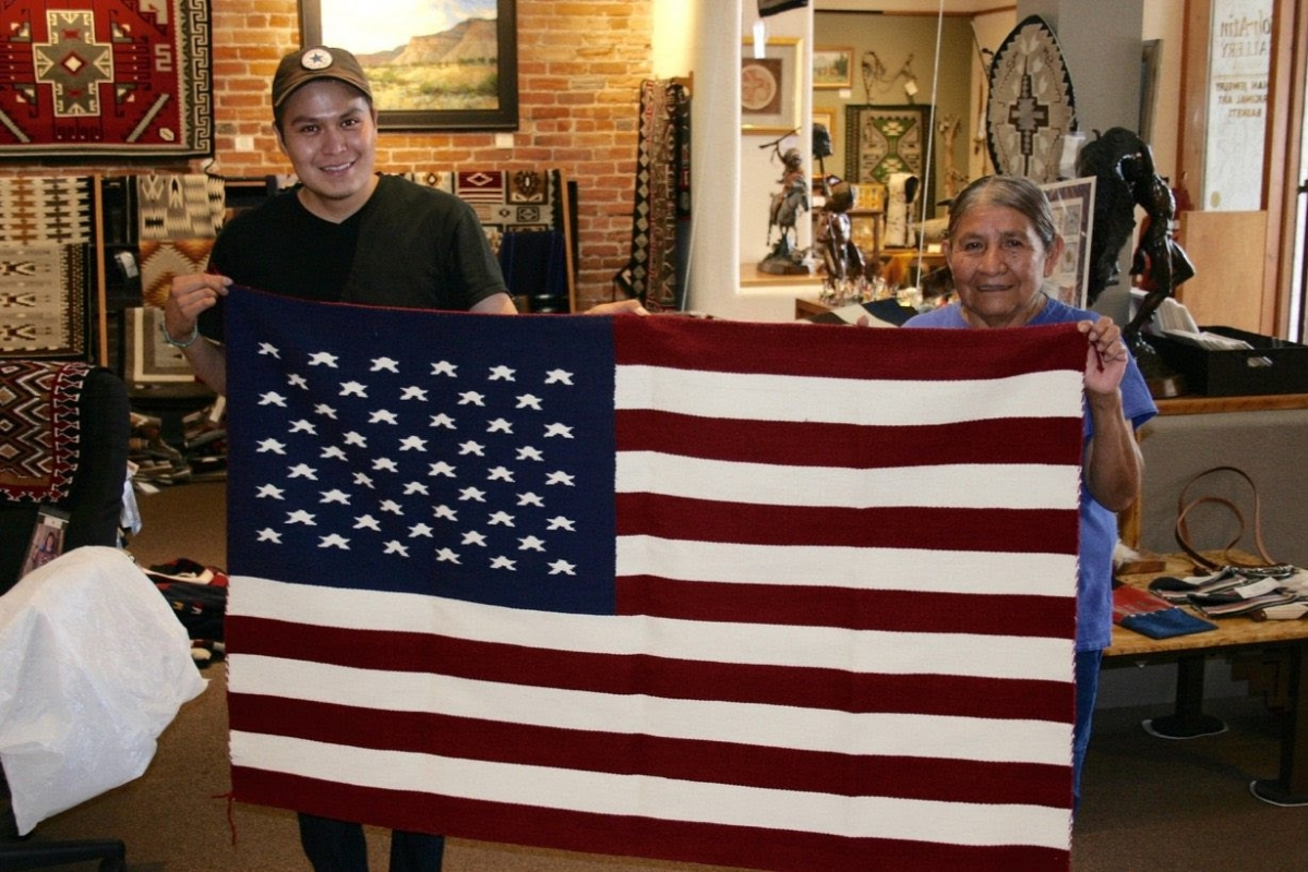 Navajo Weaving and the American Flag