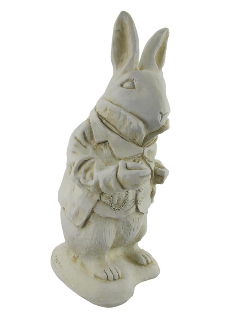 Alice in wonderland white rabbit garden statue museum - Alice in wonderland garden statues ...