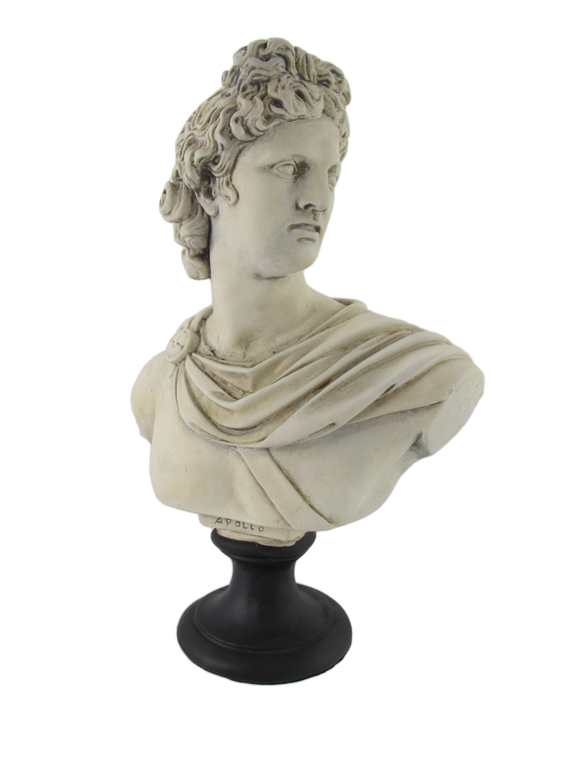 Greek / Roman God Apollo Museum White Resin Bust Statue | eBay