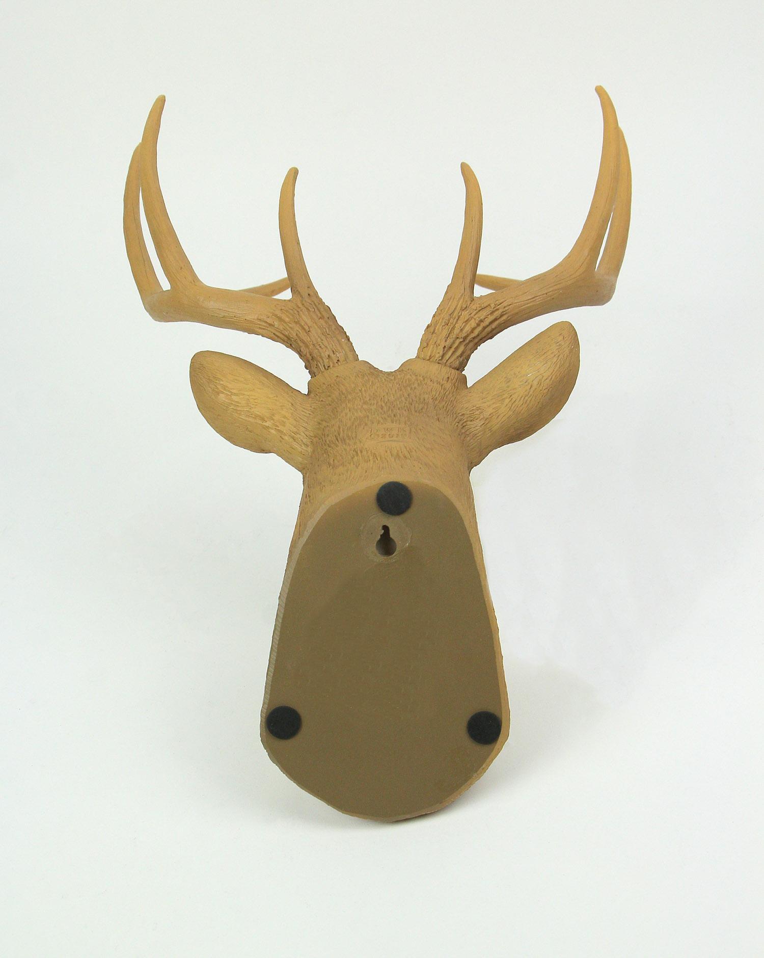 thumbnail 4 - Deer Head Buck Horns Wall Mounted Antler Trophy Faux Taxidermy Sculpture