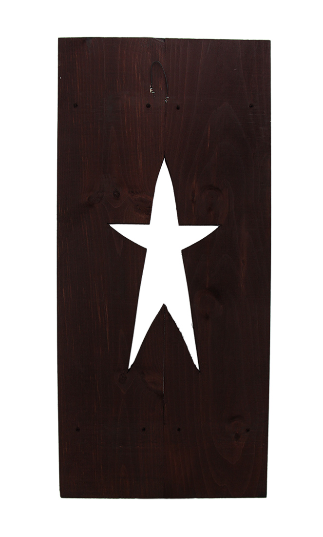 thumbnail 7 - Zeckos Rustic Cutout Star Decorative Wood Shutter Wall Hanging 24 inch