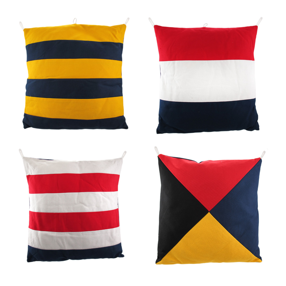 Throw Pillows Set Of 4 : Set of 4 Nautical Flag 14in X14IN Decorative Throw Pillows eBay