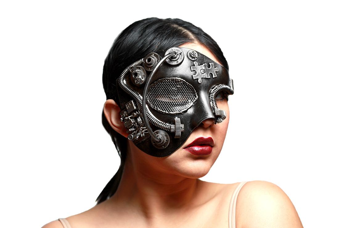 Steampunk Venetian Half Masquerade Mask