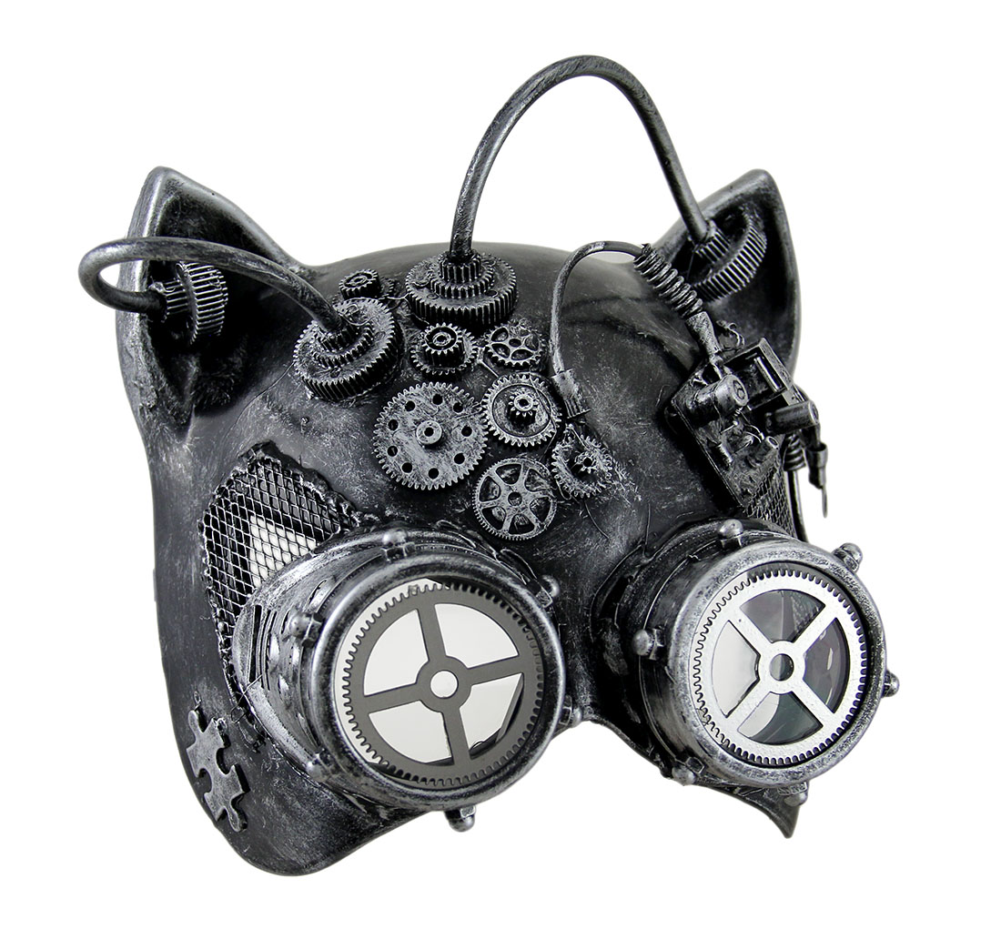 Steamkitty Metallic Finish Steampunk Cat Woman With Goggles ...