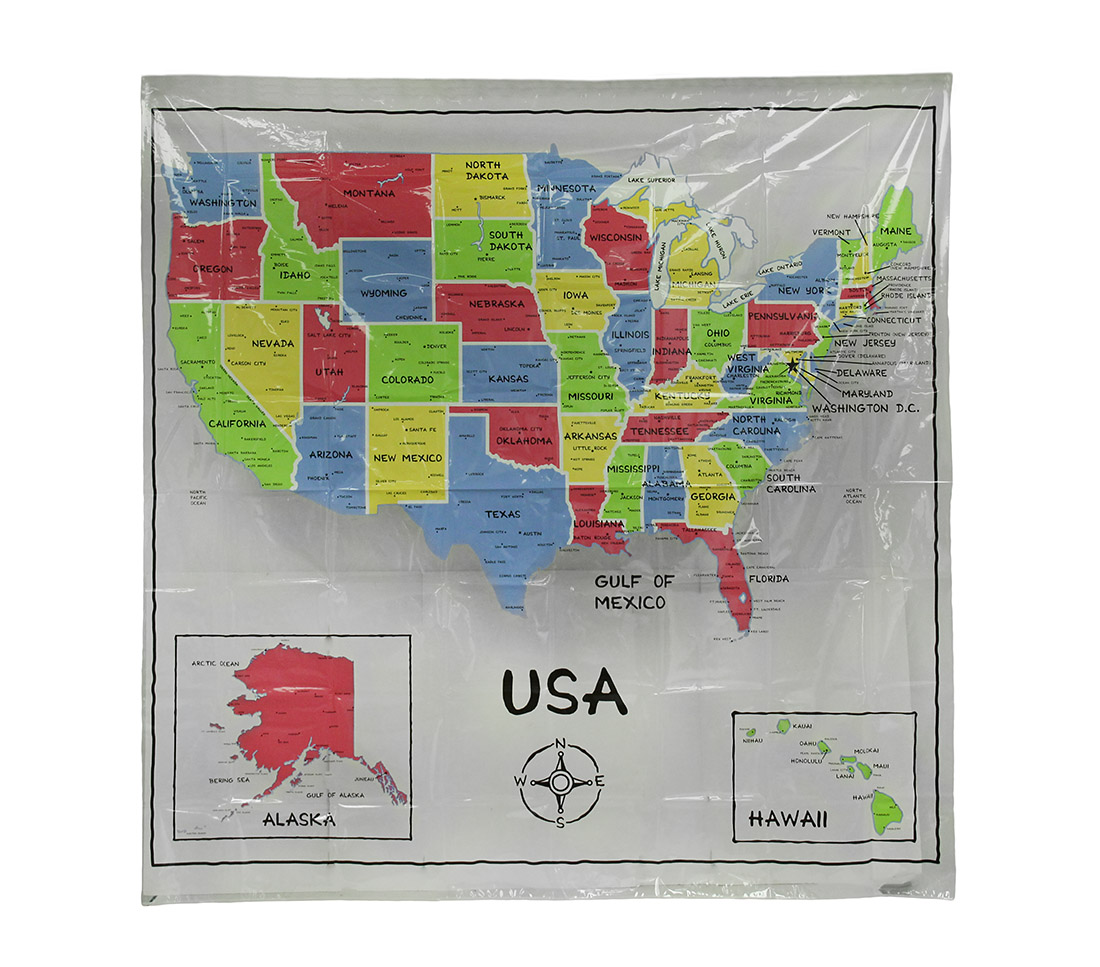Treasure map shower curtain - Us Map Shower Curtain Colorful Usa Map Print Clear Vinyl Shower Curtain 70 X 72