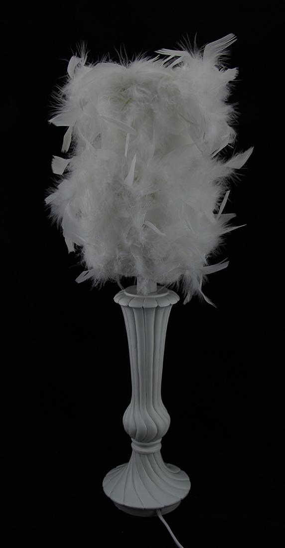 Zeckos Set Of 2 Decorative White Candlestick Lamps W