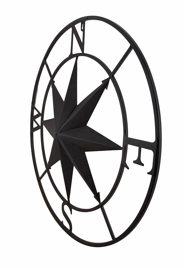 thumbnail 3 - Zeckos Distressed Finish 26 Inch Diameter Compass Rose Nautical Wall Hanging