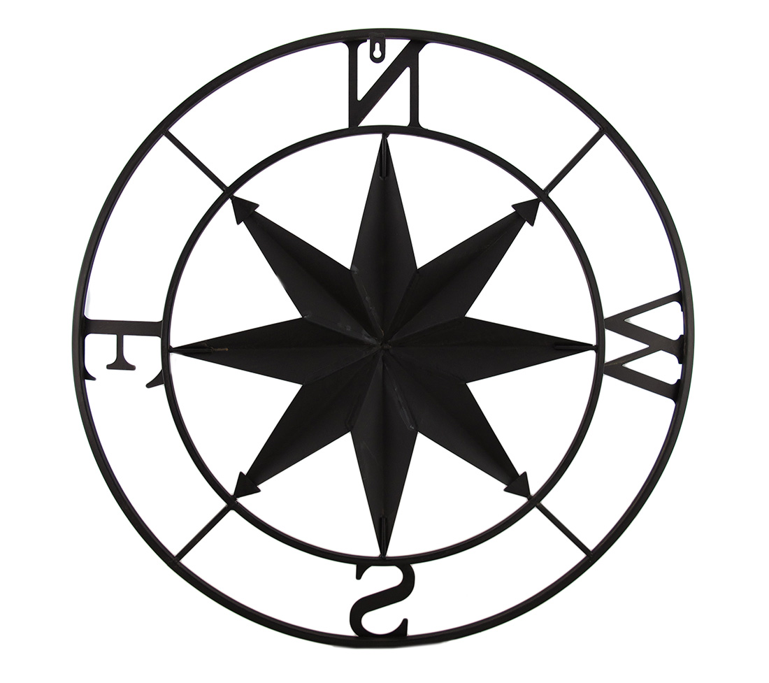 thumbnail 4 - Zeckos Distressed Finish 26 Inch Diameter Compass Rose Nautical Wall Hanging