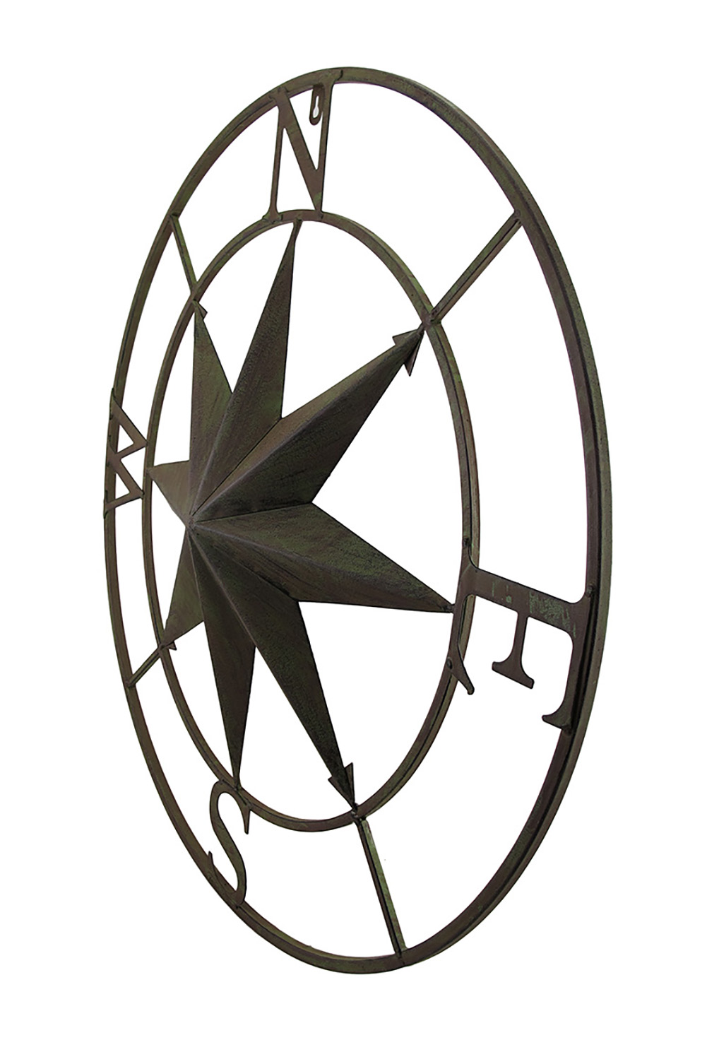 thumbnail 6 - Zeckos Distressed Finish 26 Inch Diameter Compass Rose Nautical Wall Hanging