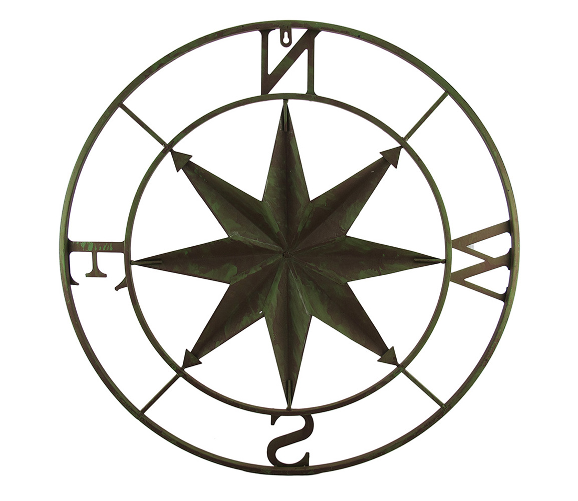 thumbnail 7 - Zeckos Distressed Finish 26 Inch Diameter Compass Rose Nautical Wall Hanging