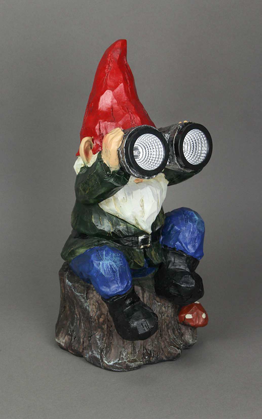 thumbnail 6 - Forest-Bird-Watcher-Garden-Gnome-Solar-Eyes-Solar-LED-Accent-Light-Sculpture