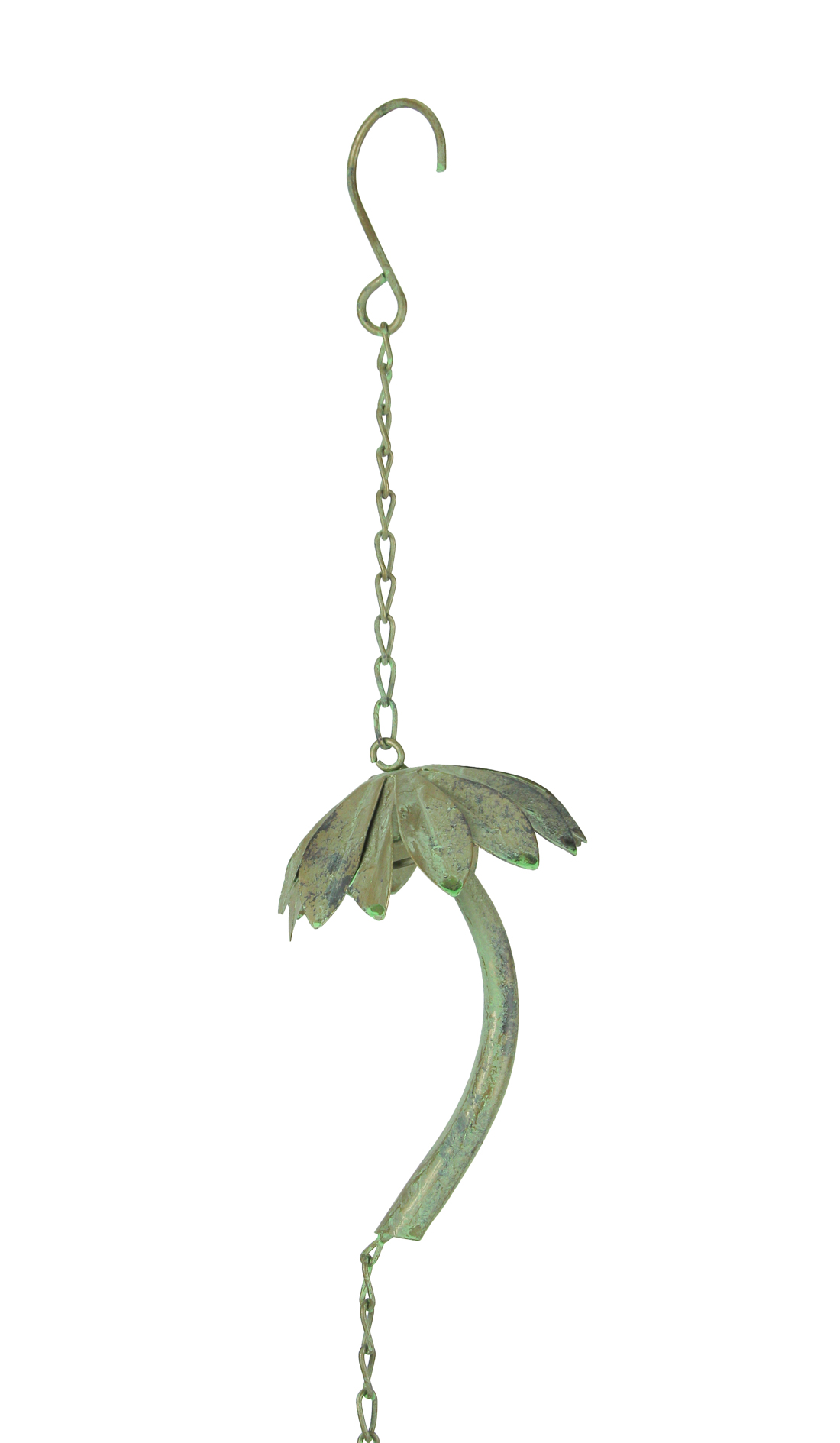 thumbnail 4 - Metal Tropical Palm Tree Rain Chain with Attached Hanger 72 inch