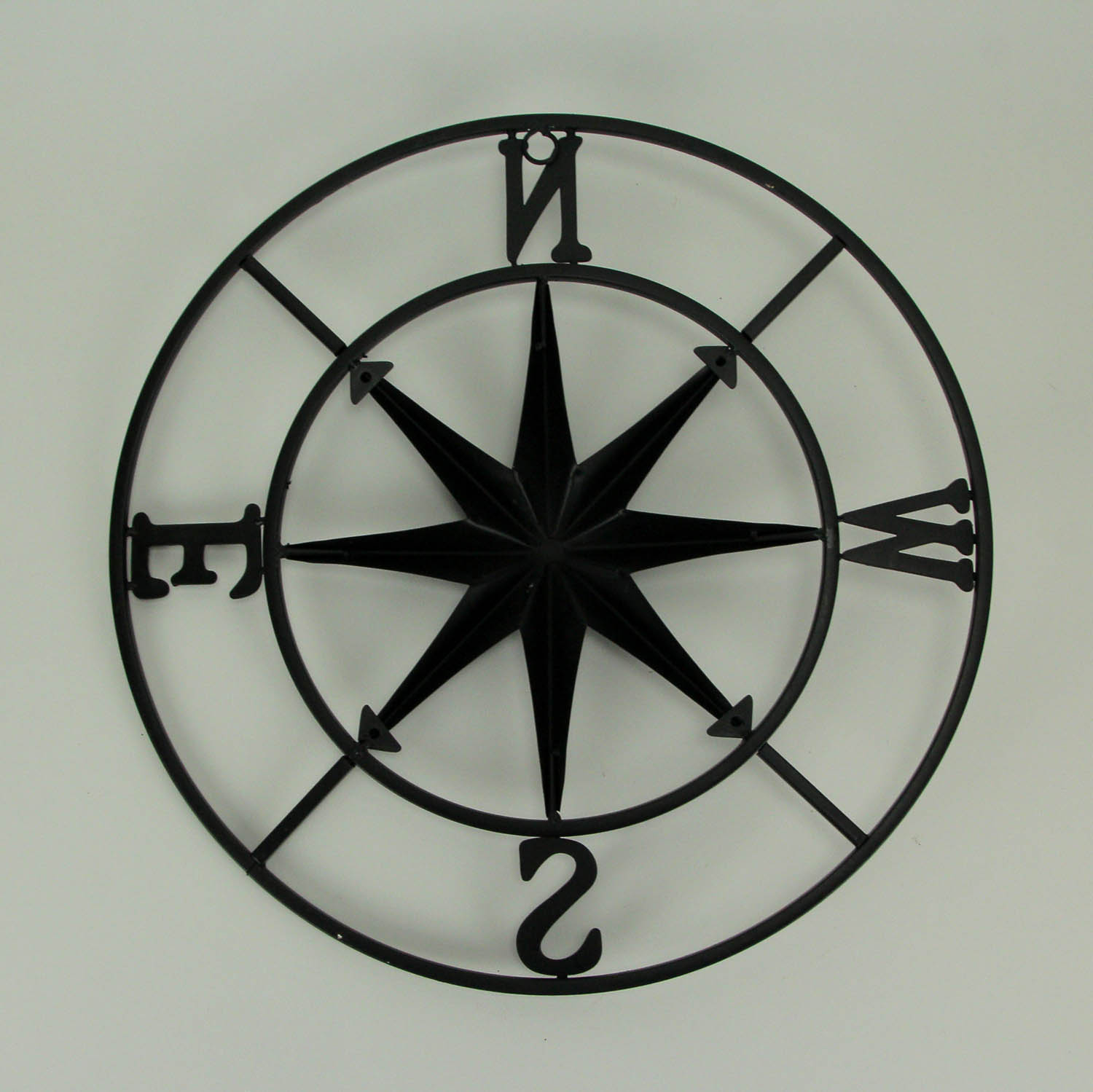 thumbnail 4 - Distressed-Metal-Compass-Rose-Indoor-Outdoor-Wall-Hanging