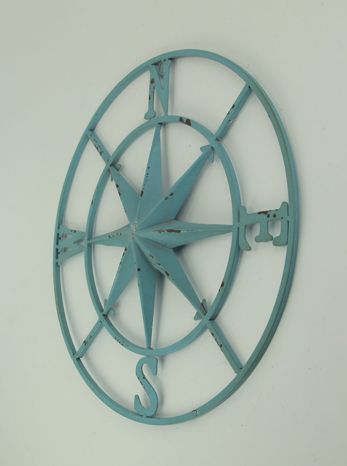 thumbnail 9 - Distressed-Metal-Compass-Rose-Indoor-Outdoor-Wall-Hanging