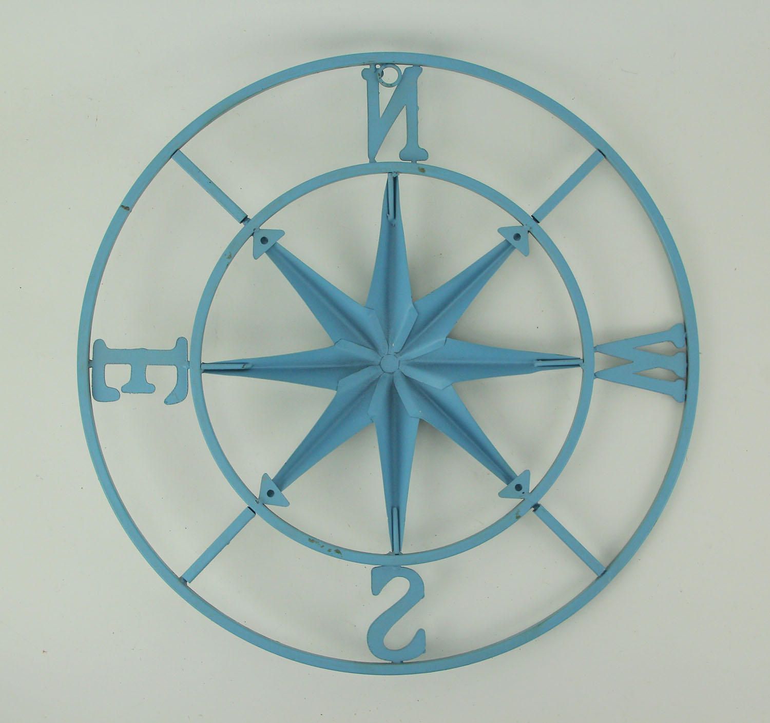 thumbnail 10 - Distressed-Metal-Compass-Rose-Indoor-Outdoor-Wall-Hanging