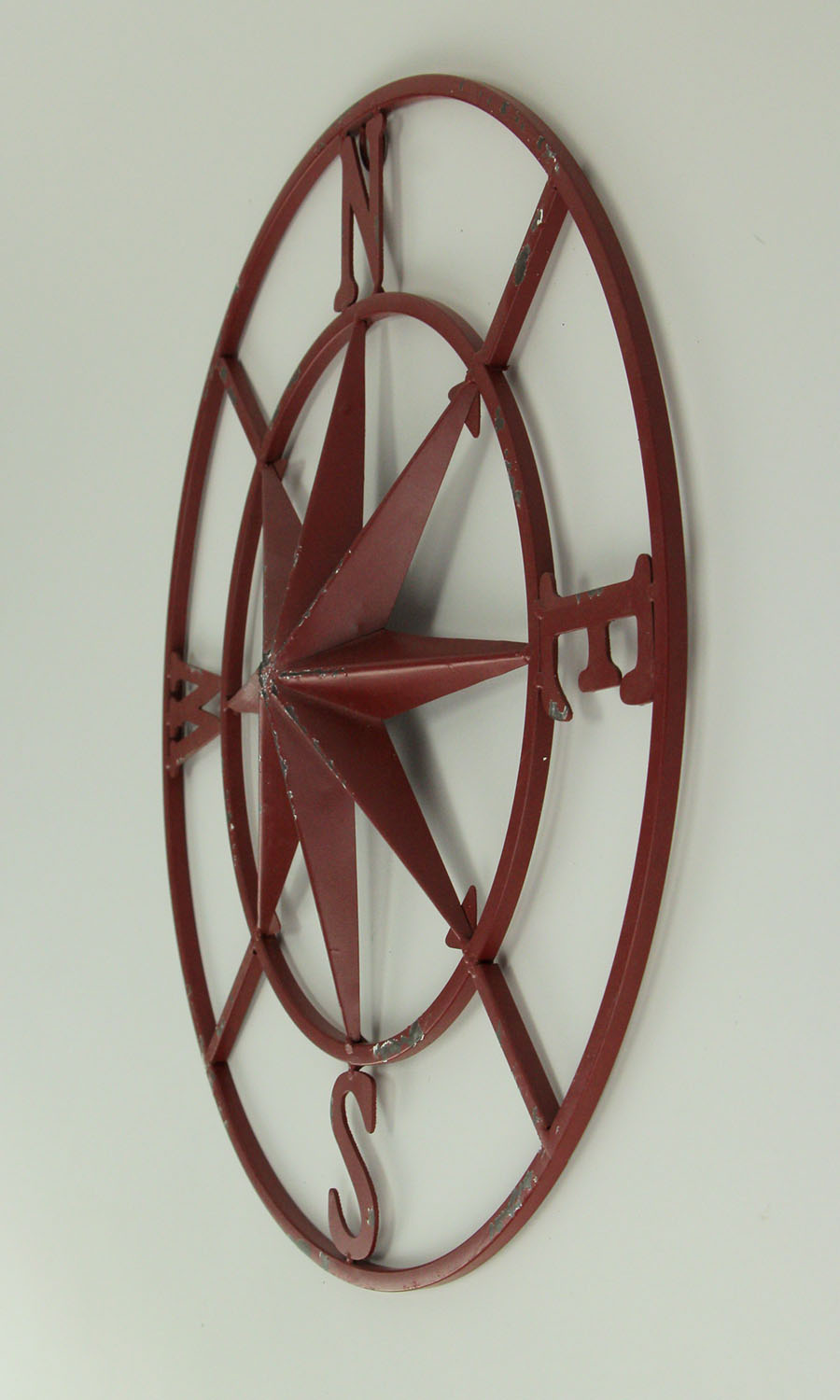 thumbnail 6 - Distressed-Metal-Compass-Rose-Indoor-Outdoor-Wall-Hanging