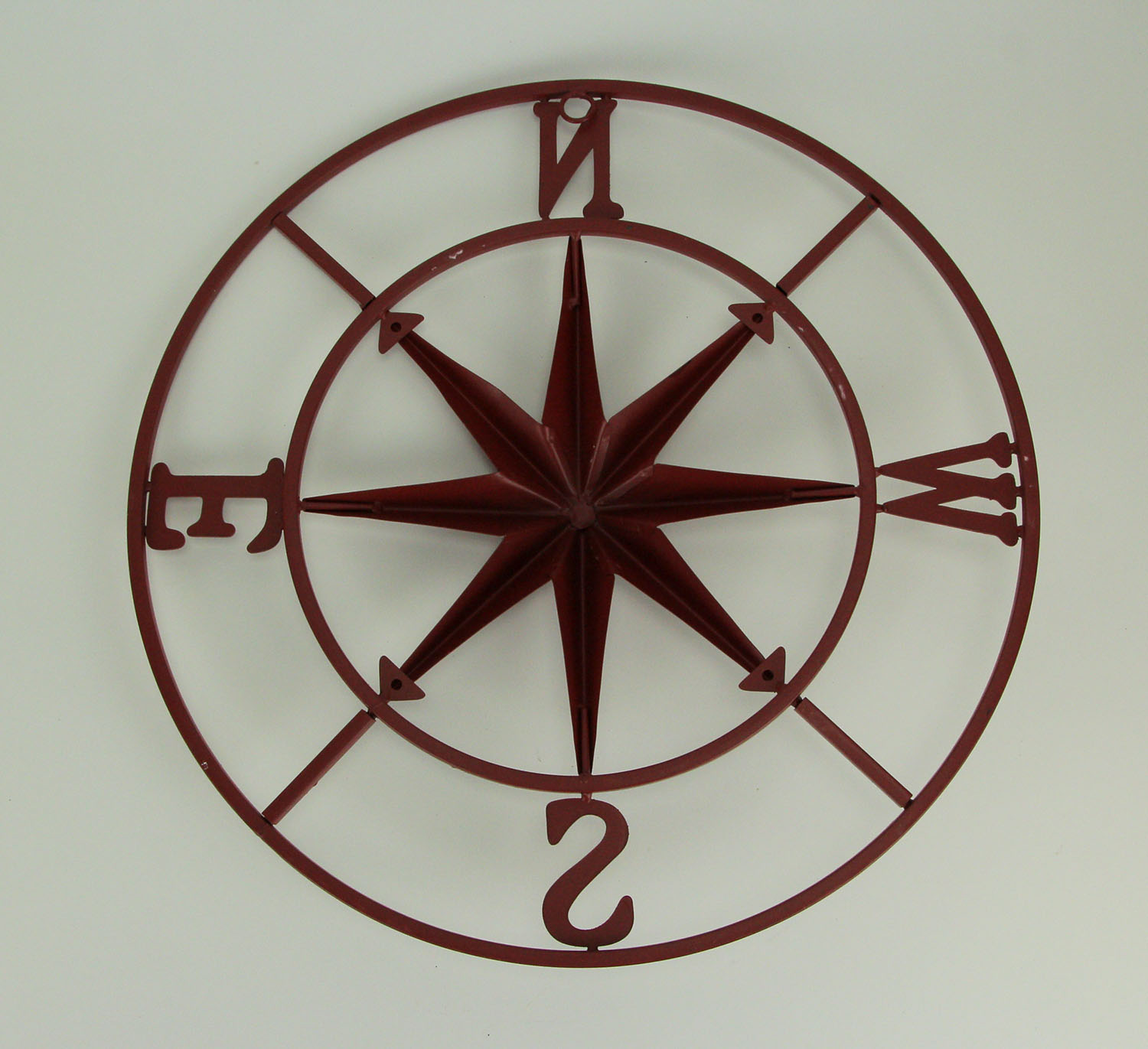thumbnail 7 - Distressed-Metal-Compass-Rose-Indoor-Outdoor-Wall-Hanging