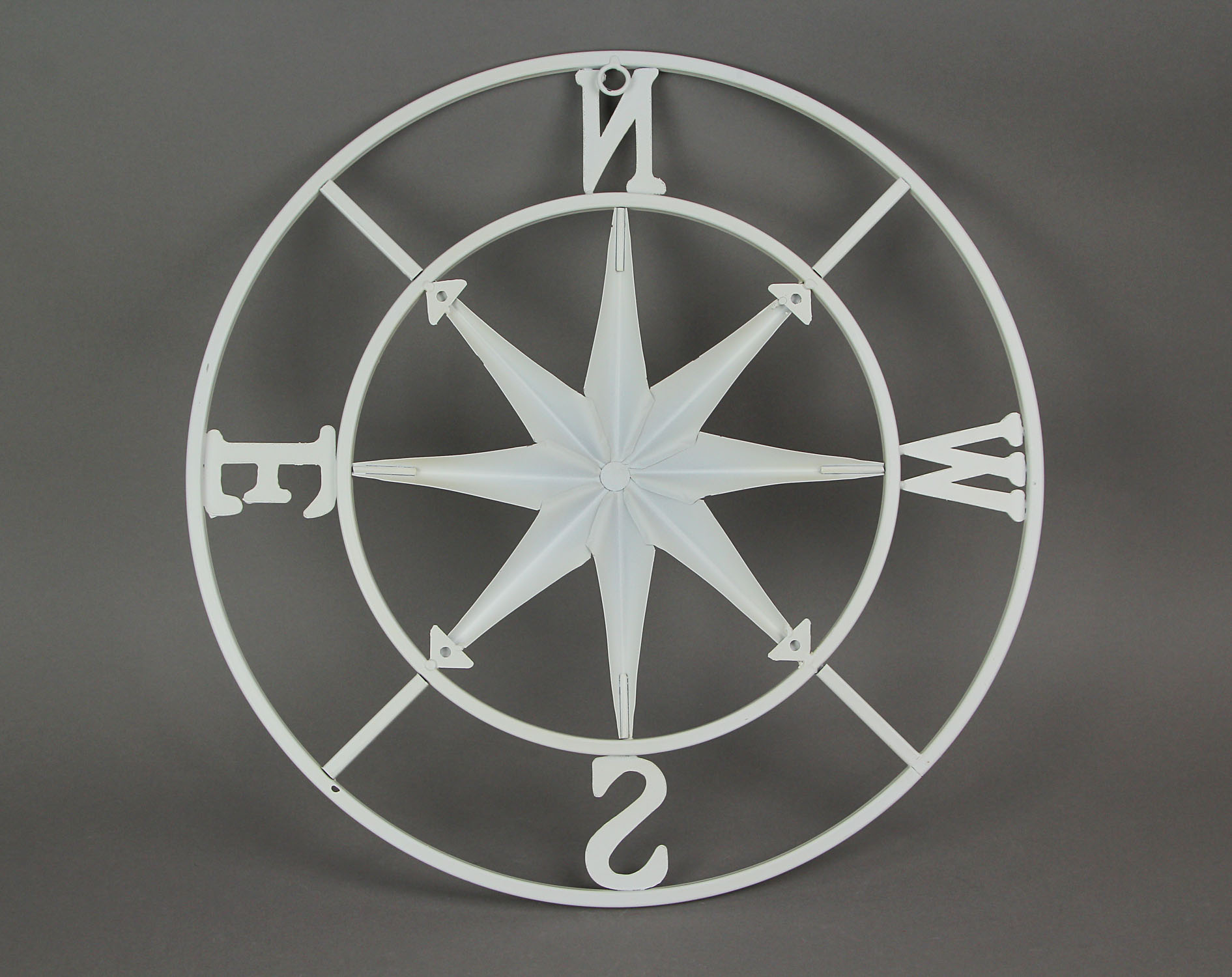thumbnail 13 - Distressed-Metal-Compass-Rose-Indoor-Outdoor-Wall-Hanging