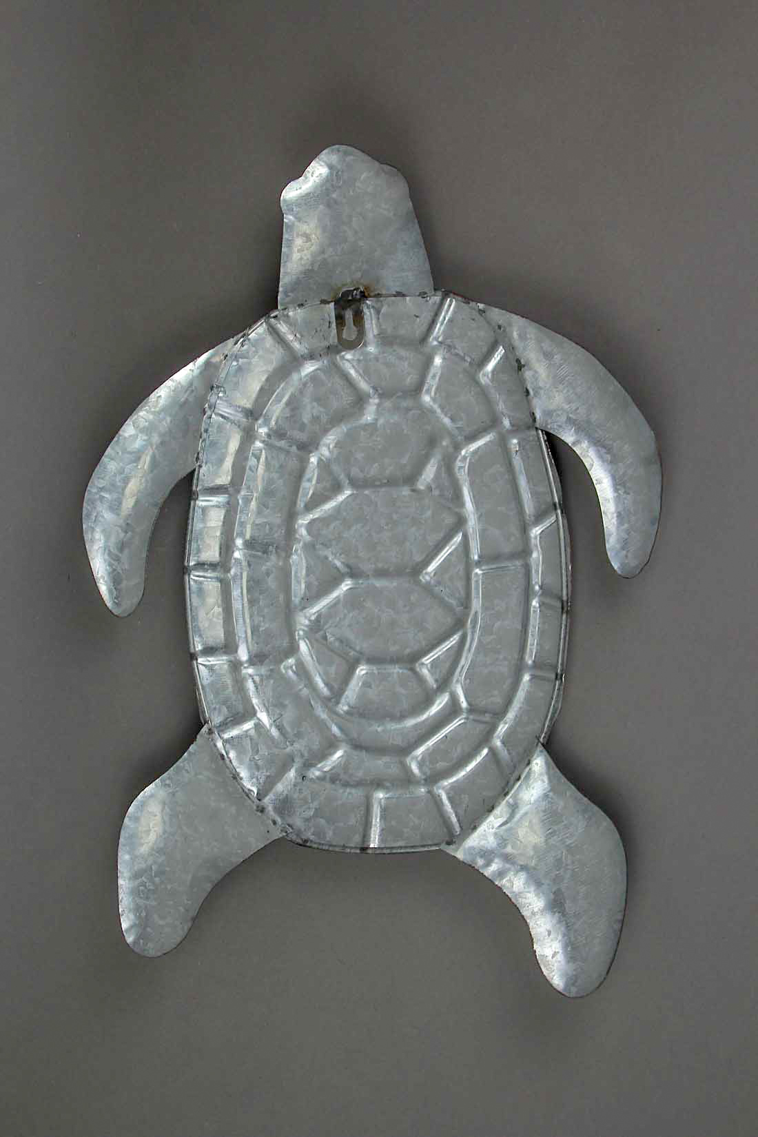 thumbnail 7 - Galvanized Zinc Finish Metal Sea Turtle Wall Hanging With Painted Shell