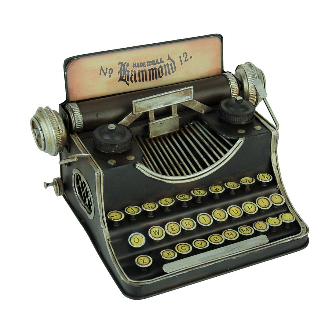 Black Vintage Finish Tin Antique Typewriter Coin Bank | eBay