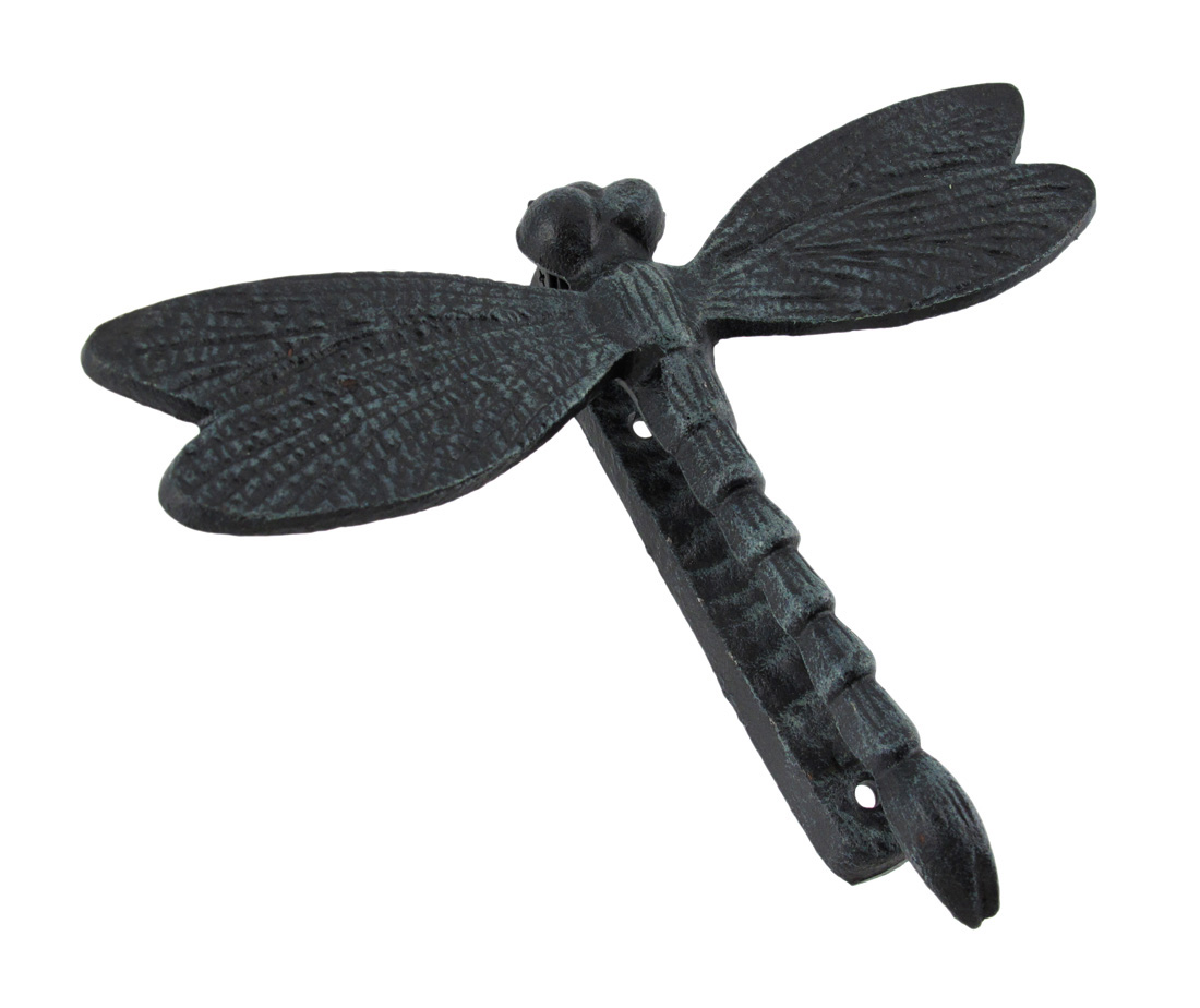 Black enamel cast iron dragonfly door knocker ebay - Dragonfly door knocker ...