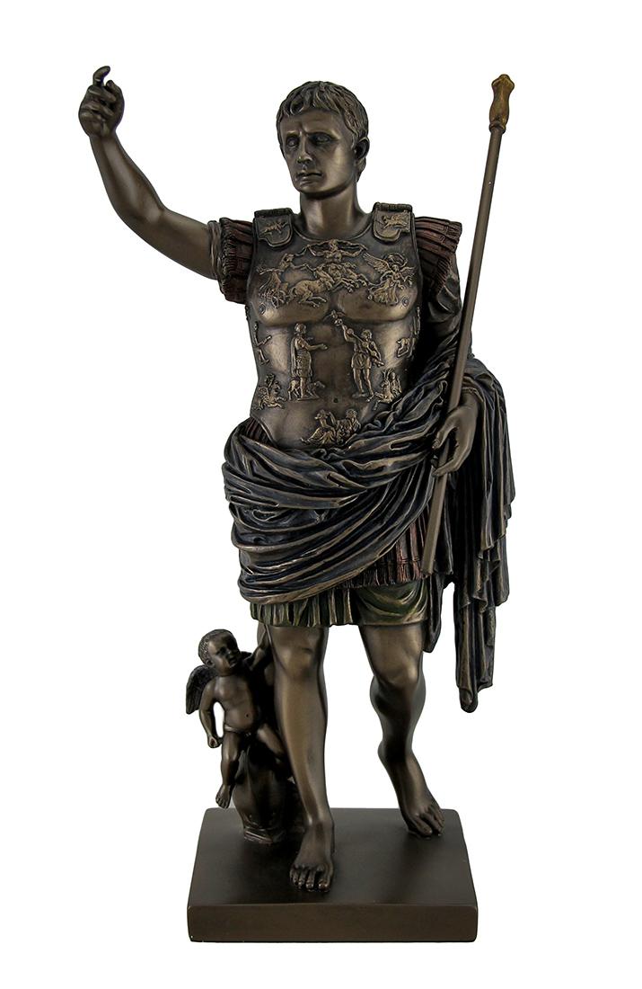 Augustus Of Prima Porta Bronze Finish Augustus Statues - Tanga