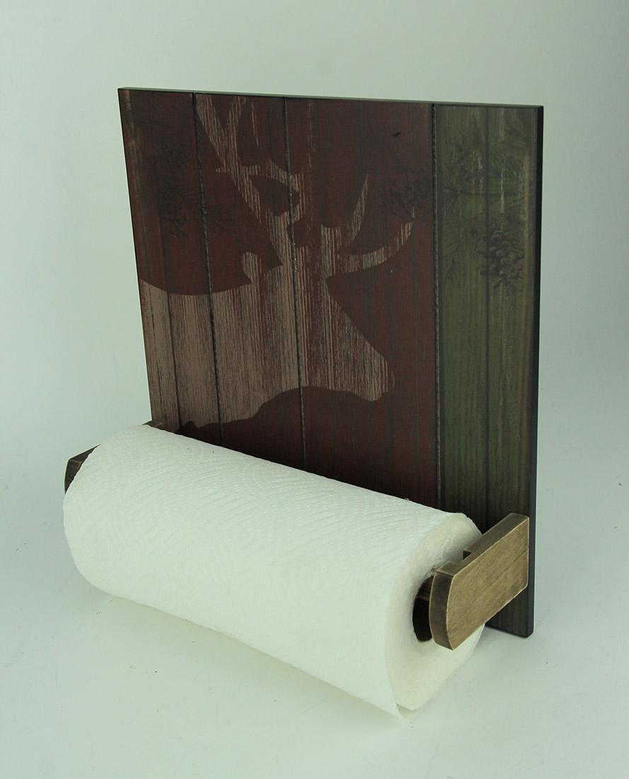 Rustic-Wood-Wildlife-Hanging-Paper-Towel-Holder miniature 6