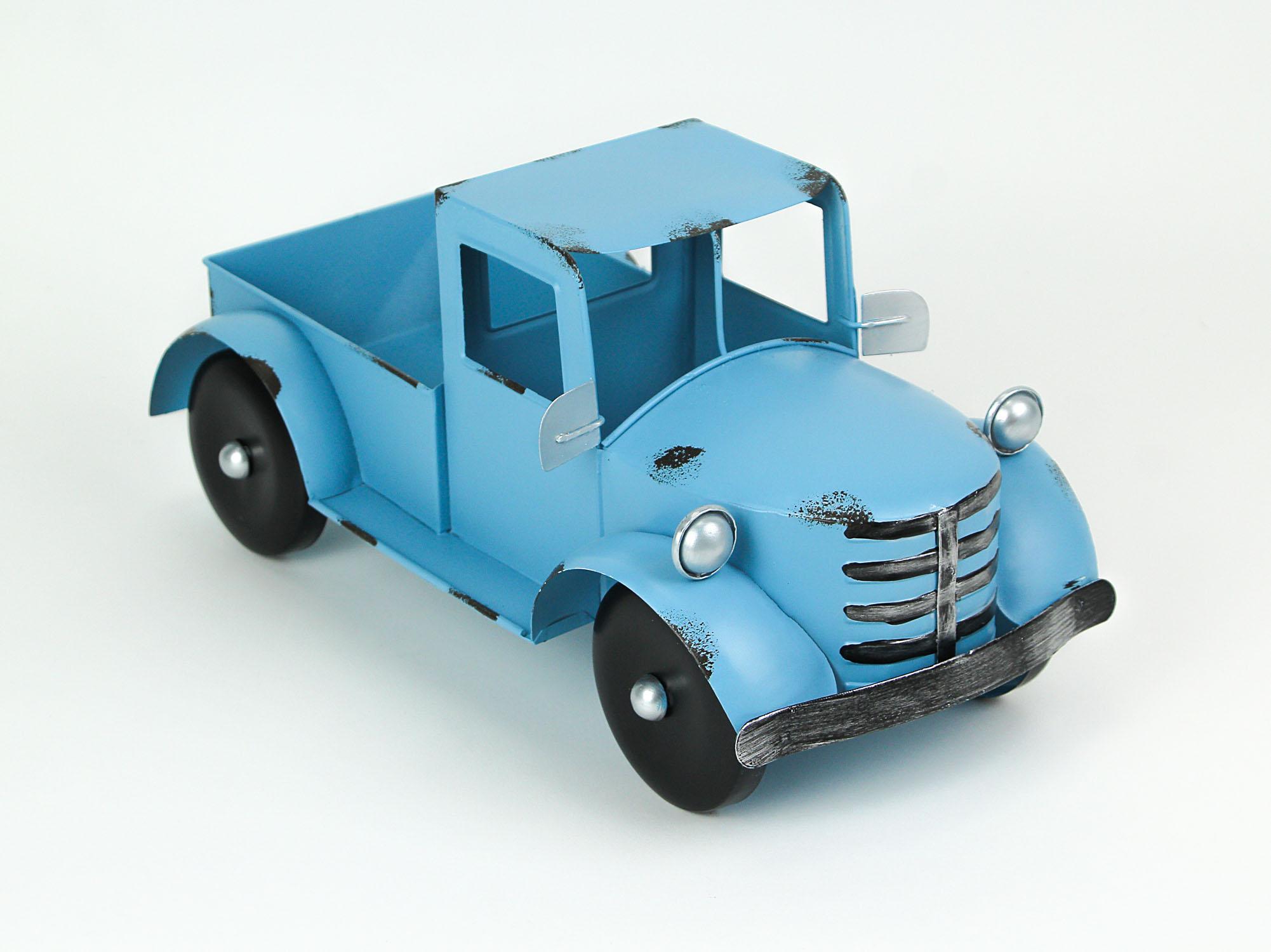 thumbnail 3 - Zeckos Rustic Metal Antique Truck Indoor or Outdoor Planter