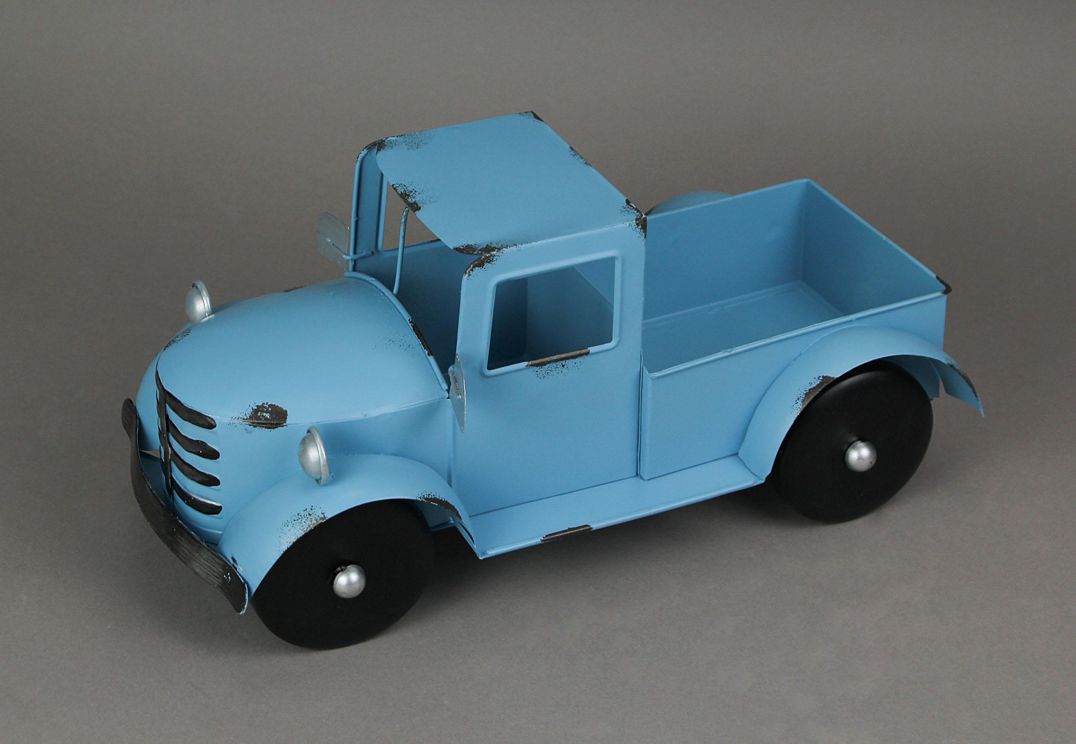 thumbnail 4 - Zeckos Rustic Metal Antique Truck Indoor or Outdoor Planter