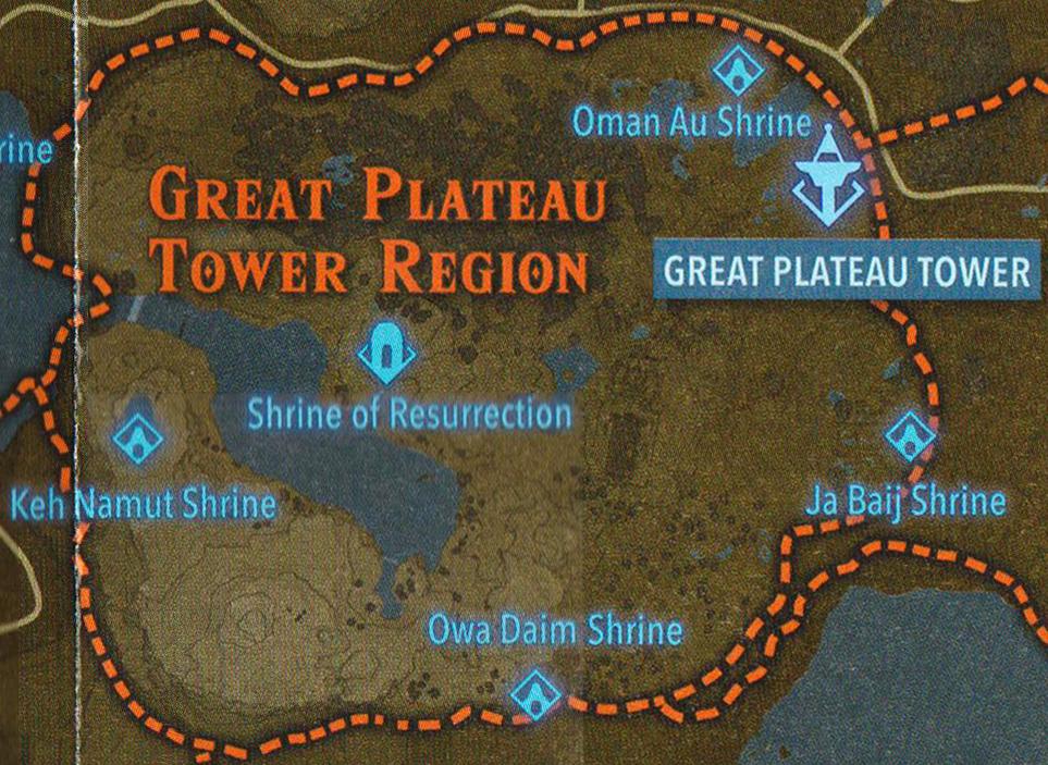 Great Plateau Map