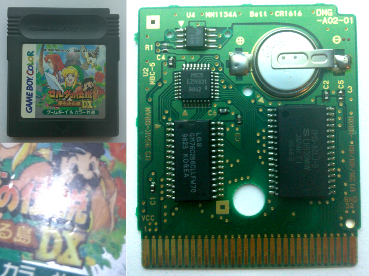LADX JP v1.0 cart with microchip shown (2)