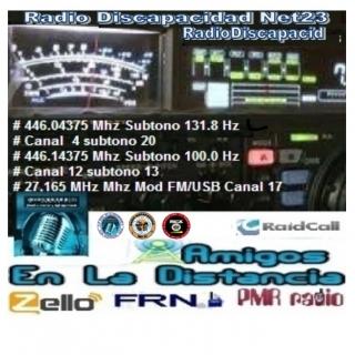 AMIGOS EN LA DISTANCIA. (RADIO DISCPACIDAD.NET23) en Zello