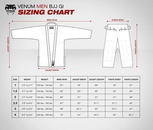 Venum Gi Sizing Chart
