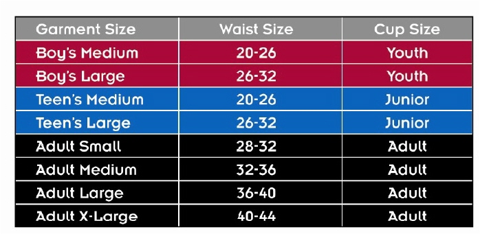 Spider Guard Sizing Chart