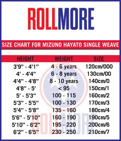 Mizuno GI Sizing Chart