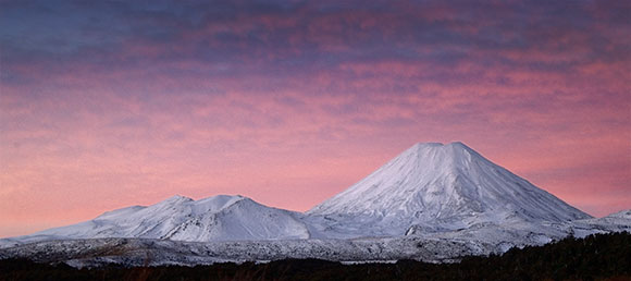 Fine art photography: Mt Ngauruhoe Sunset - New Zealand