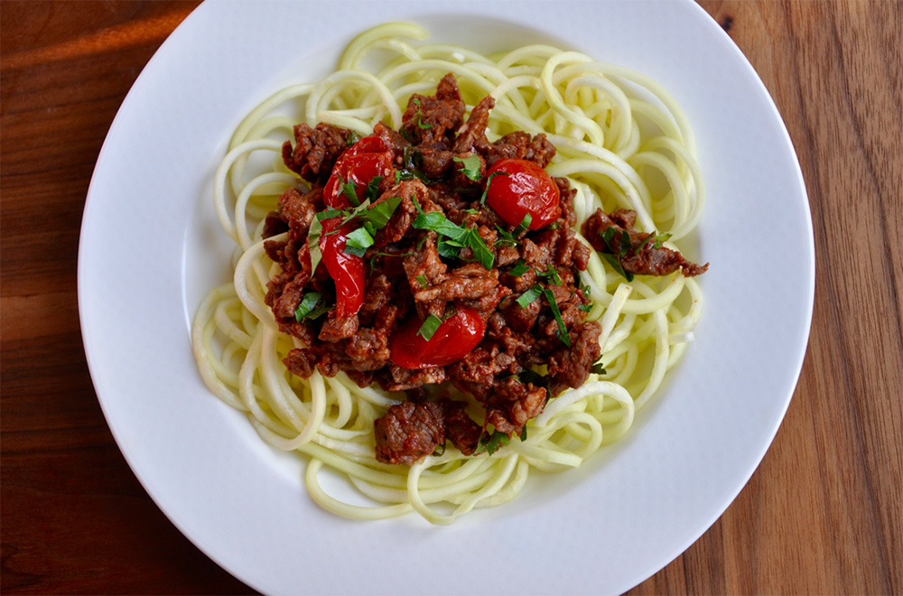Beef Ragu and Zucchini Noodles