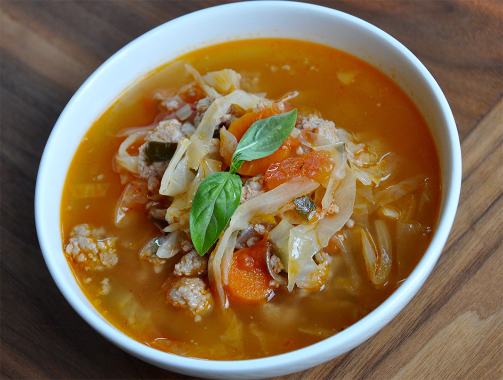 Sausage and Cabbage Comfort Soup