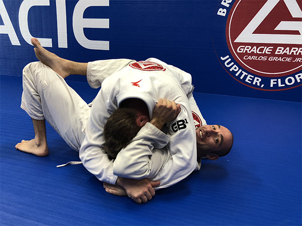 grappling smiling