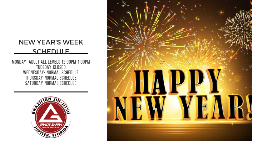 Updated New Year's Week Schedule
