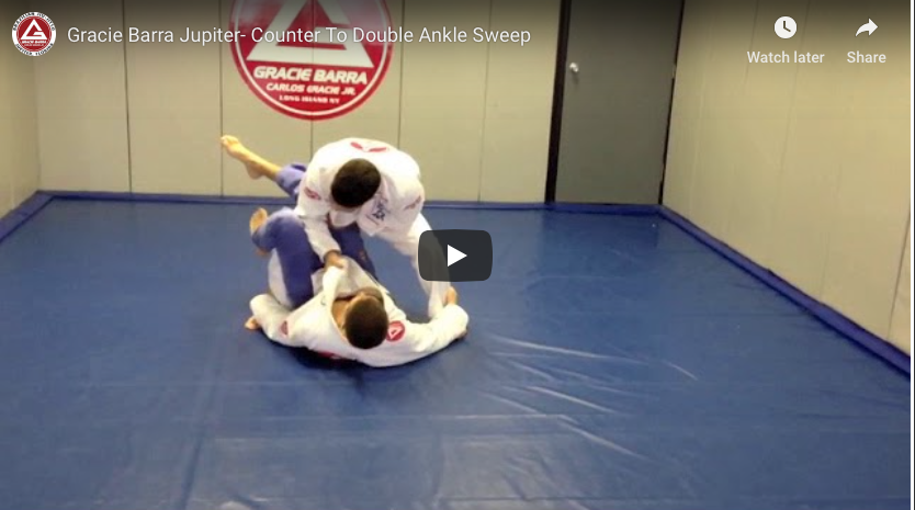 Counter To The Double Ankle Sweep From Guard