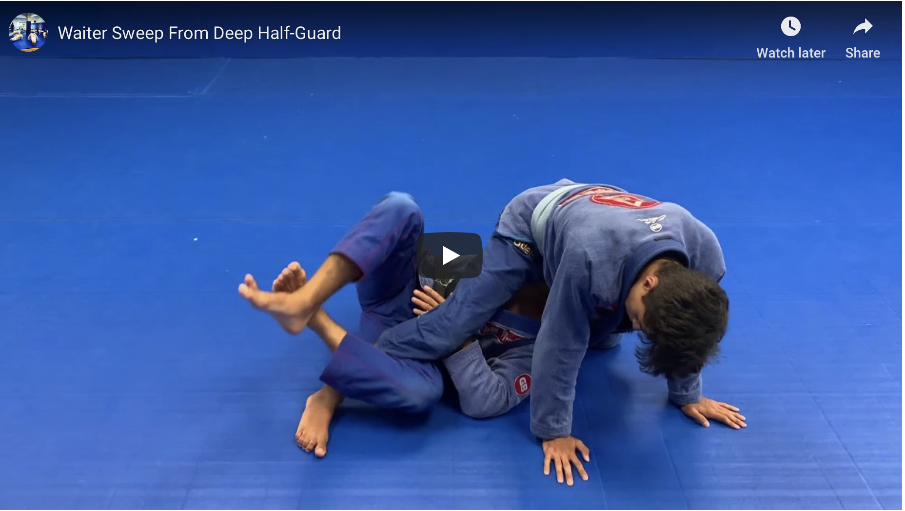 Waiter Sweep From deep Half-Guard (Video)