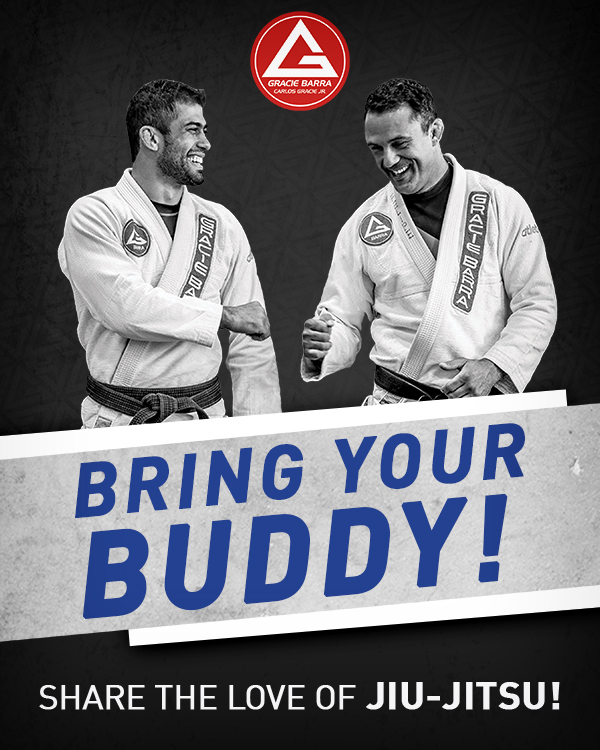 Refer a Buddy to Gracie Barra and your next month's tuition is on us!