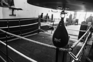 boxing ring and punching bag at Systems Training Center