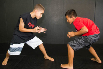children learning Brazilian Jiu-Jitsu