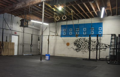 interior of Systems Training Center CrossFit gym